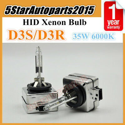 2x 35W D3S D3R 6000k HID Xenon Headlight Bulbs Lamp Replace for Philips or Osram
