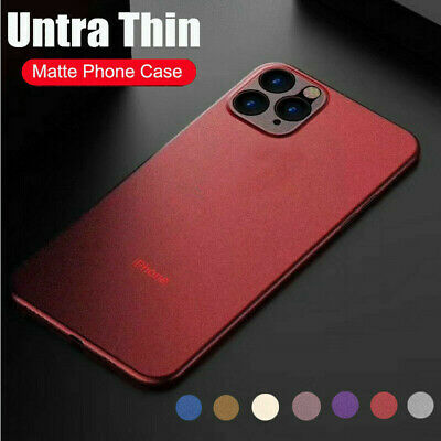Shockproof Ultra Thin Matte Clear Hard Case Cover For iPhone XS Max XR 8 11 Pro