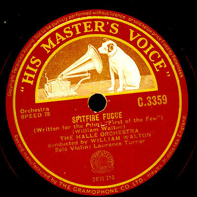 "WILLIAM WALTON Film-Music ""Fiirst of the few"" Spitfire Fugue"" 1942  WW2  G3419"