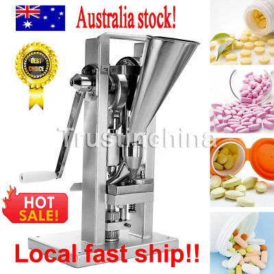TDP-0T Manual Type Single Punch Tablet Press Pill Making Machine 6mm Lab / Home