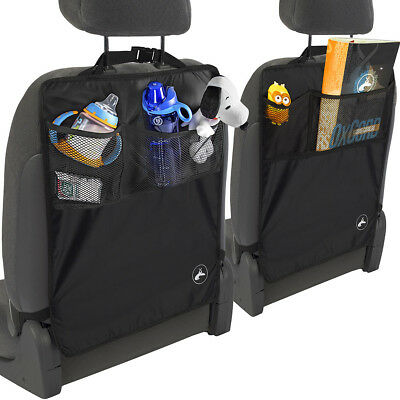 2pcs Car Seat Kick Covers W/ 4 Storage Bag Back Protector Kids Baby Children Mat