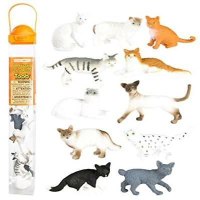 ❤ Toy Kids Pack Of 11 Safari Ltd Domestic Cats Toob Figurines Gift Xmas