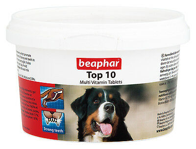 BEAPHAR TOP 10 DOG MULTIVITAMIN TABLETS 180 tablets / 117g VITAMINS & MINERALS