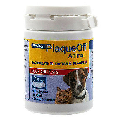 Pro Den Plaque Off Animal, Bad Breath and Tartar Control for Cats and Dogs 60g
