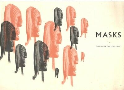 nn - Vintage 1960's MASKS The Many Faces of Man EXHIBITION CATALOG