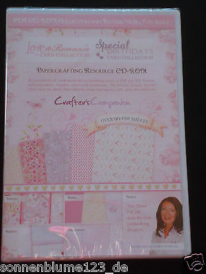 Crafters Companion Love & Birthday Papercrafting Resource -  1 CD NEU/OVP