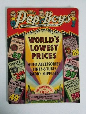 Vintage 1932 Pep Boys Catalog - Manny, Moe & Jack in Very Good Condition