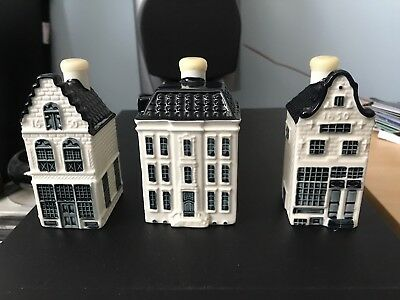 KLM Delft Houses, 12, 15, 93. Sealed With Contents.