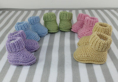 Knitting Instructions-New Baby Everyday Booties  Shoes Boots Knitting Pattern