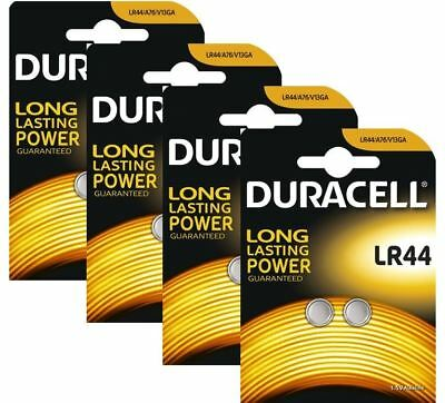 8 x Duracell LR44 1.5V Alkaline Button cell Batteries LR44 A76 AG13 357 SR44