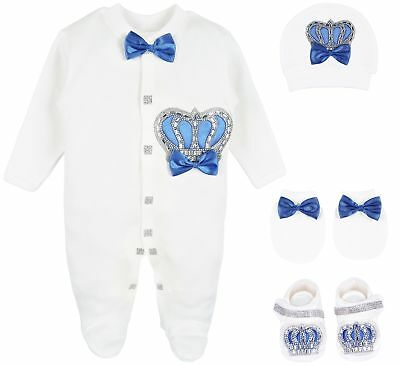 Lilax Baby Girl Jeweled Butterfly Layette 3 Piece Gift Set 0-3M