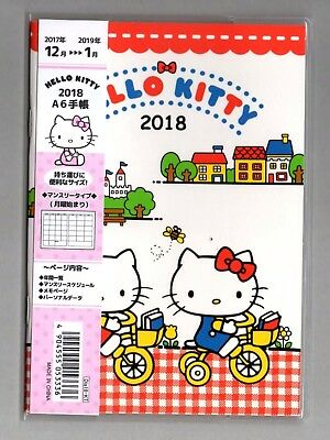 Hello Kitty A6 size 2018 schedule book (red) japan limited