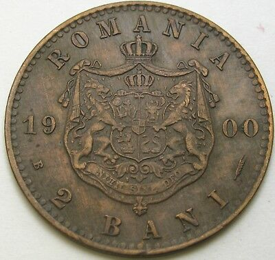 ROMANIA 2 Bani 1900 - Copper - Carol I - VF - 2907 ¤