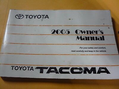 2006 toyota tacoma owners manual picclick rh picclick com 2005 toyota tacoma service manual 2004 tacoma owners manual