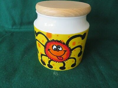 DUNOON CREEPY CRAWLERS CANNISTER by JANE BROOKSHAW  STONE WARE MADE IN SCOTLAND