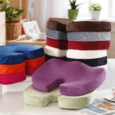 Coccyx Orthopedic Cushion Office Chair Seat Pain Relief Memory Foam Pillow Pad