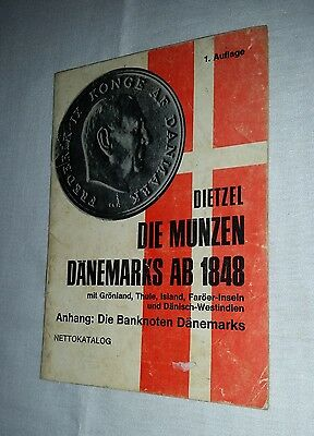 1971 Danish coins & banknotes of Denmark & colonies since 1948 small pocket book
