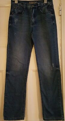 Boys Jeans Blue Denim Straight Leg***age 12-13***great Condition