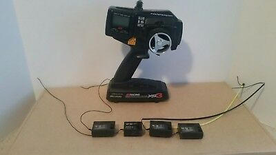 JR Racing xs3 Transmitter and 4 receiver lot rs300 rs310