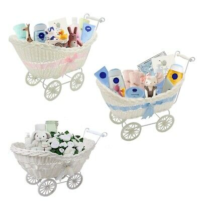 Baby Pram Hamper Wicker Large Basket New Born Baby Shower Party Gifts Boys Girls