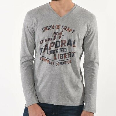 Tee shirt Kaporal homme manches longues Mark grey