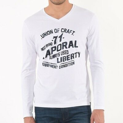 Tee shirt Kaporal homme manches longues Mark white