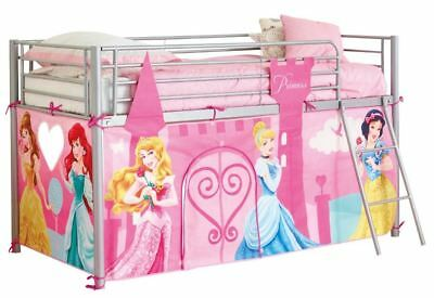 Worlds Apart Disney Princess Mid Sleeper Bed Tent, Kids Bed Accessory