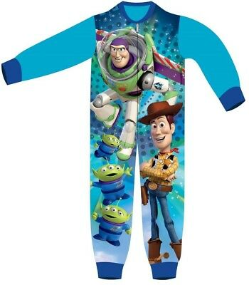 Boys Girls Disney Toystory Pixar All In One Fleece Sleepsuit Woody Buzz Official
