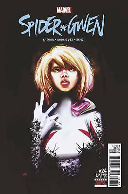 SPIDER-GWEN #24 2ND PRINT Variant 1ST GWENOM Marvel Comics NM 2017