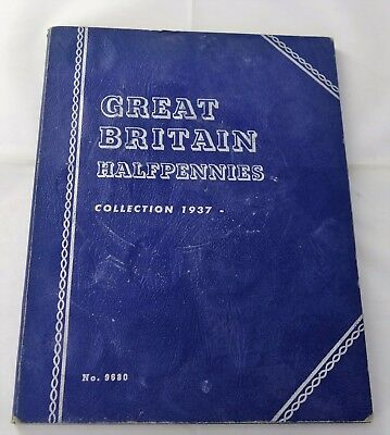 1937 -1965  Partial Great Britain Halfpennies Set 47/49 Coins Whitman Album A732