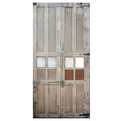 Reclaimed Antique Carriage Door Pair, Early 1900s, NED711