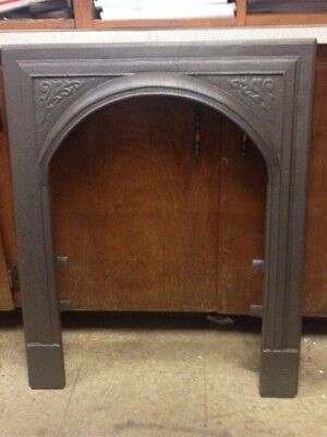 Antique Cast Iron Fireplace Surround Arched And Rare ***sale***