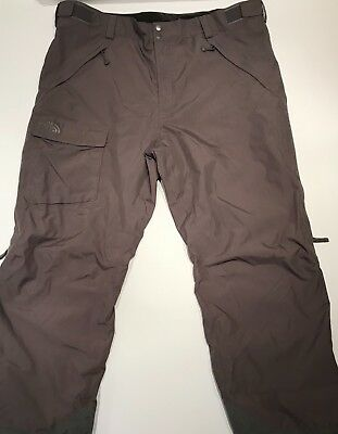 The North Face Men's Snow Ski Pants Gray Hyvent XXL Insulated Vented Snowboard