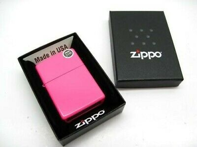 Zippo Full Size Neon Pink Finish Classic Windproof Lighter 28886