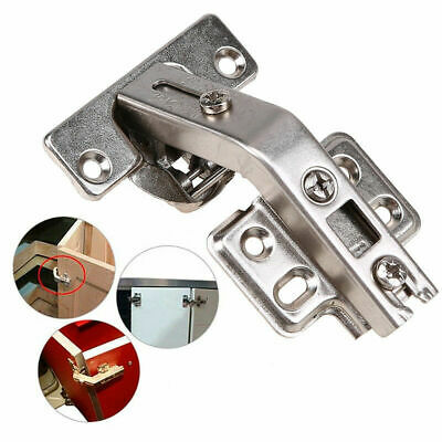 1x Clip On Cabinet Cupboard Wardrobe Concealed Door Hinge 135 Degree with Screw