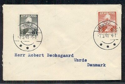 GREENLAND 1941 Wartime captured cover to DENMARK - RELEASED BY PRIZE COURT