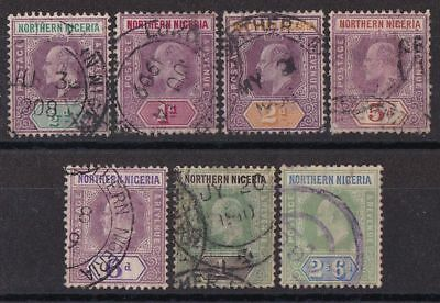 NORTHERN NIGERIA 1905 KEVII set ½d to 2/6 wmk Multi Crown CA chalky paper