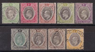 SOUTHERN NIGERIA 1904 KEVII ½d to 5/- wmk Multi Crown CA Type A