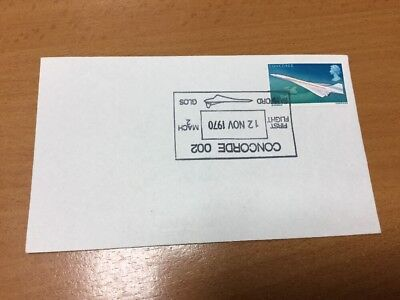 1970 Concorde First Flight Fairford Special Postmark Upside Down
