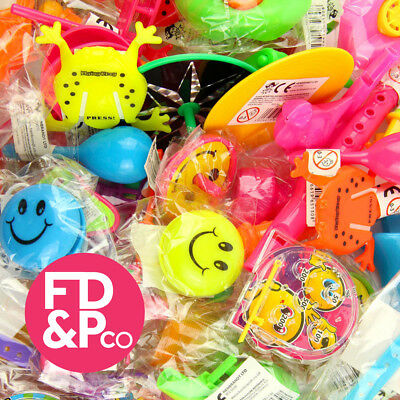 100 Pinata Party Bag Fillers, Lucky Dip Prizses - 50 Toys, 50 Tattoos/Rubbers