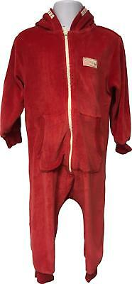 PRE-OWNED Girls Next Red Hooded All In One Playsuit Size 18-24 Months