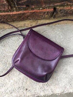 Vintage Saks Fifth Avenue Genuine Leather Small Crossbody Purse Made In Italy