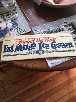 Vintage Ice Cream Advertising Porcelain Sign. Mummert Sign Co.18 X 7