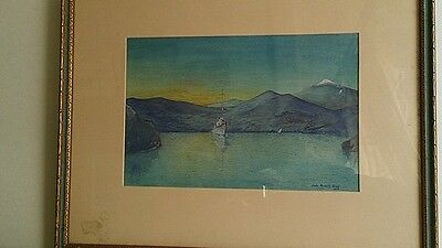 John Packard Graff Signed Oil - 1929 Marine Scene - West Point Naval Officer
