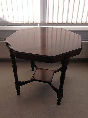 Antique Victorian Octagonal Two Tier Side Table. Reduced in price.