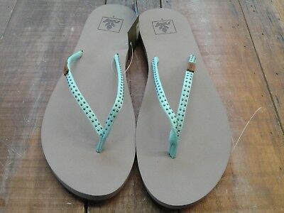 34a544bce4a3a REEF WOMEN S SLIM Ginger Stud Sandals Mint size 9 -  31.99