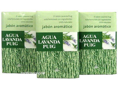 3x Agua Lavanda Puig by Antonio Puig 3x Aromatic Soaps For Men and Women 3x125g