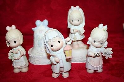 Precious Moments Collection of 3 Figurines and 2 Music Boxes (Lot 3)