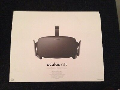 Oculus Rift VR Headset, Touch Controllers, 2 Sensors, Boxed Virtual Reality