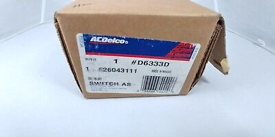 ACDelco D6333D Wiper And Washer Switch 26043111